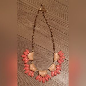 Jewelry - Gorg Coral, Blush & Gold Fan Statement Necklace